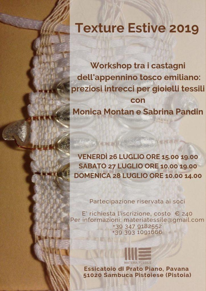 comprare reale fornitore ufficiale caratteristiche eccezionali Corso Texture estive: preziosi intrecci per gioielli tessili ...